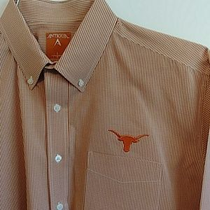 Texas Longhorns Men's Oxford Shirt by Antigua Sz L